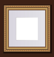 baguette golden frame for design artworks vector image
