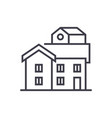 bungalow line icon sign on vector image