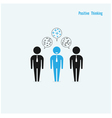 Businessman with positive thinking vector image