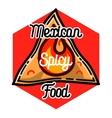 Color vintage mexican food emblem vector image