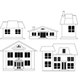 House Silhouettes Set vector image