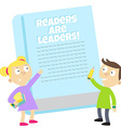 readers are leaders vector image