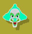realistic paper sticker on theme humor clown vector image