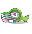 student with book adhesive tape character cartoon vector image