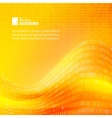 Yellow digit waved background vector image