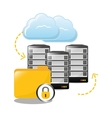 lock archived folders data center related vector image