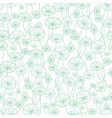 mint green and white underwater seaweed vector image