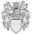aristocratic emblem No13 vector image vector image