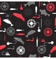 Seamless pattern on a fishing theme vector image