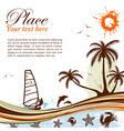wind-surf grunge summer background vector image vector image