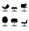 chair set black vector image