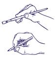 hand draws vector image