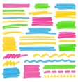 Highlighter Color Stripes Strokes and Marking vector image