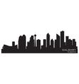 Calgary Canada skyline Detailed silhouette vector image
