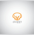 dog cute logo template vector image