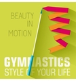 flat sport gymnastics background concept de vector image