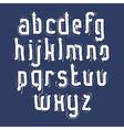 Handwritten white lowercase letters stylish vector image