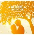 Love tree silhouette vector image