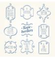 Nautical rope borders vector image