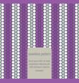 Seamless geometric art pattern vector image