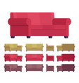 Sofa furniture set vector image