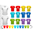 Collection of various colorful soccer jerseys with vector image