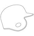 Baseball batting helmet vector image