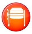 Concrete mixer icon flat style vector image