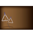 A Musical Triangle on Dark Brown Background vector image