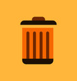 metal garbage can vector image