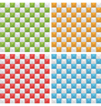 seamless check patterns vector image vector image