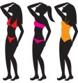swim suit silhouettes vector image vector image
