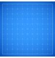 Blue square grid blueprint vector image