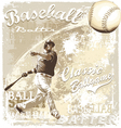 batting baseball vector image vector image