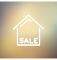 Sale sign thin line icon vector image