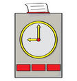 punch clock vector image