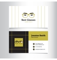 business card template with glass store vector image