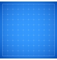 Blue square grid blueprint vector image