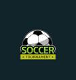 football soccer tournament vector image