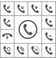 Handset icons vector image