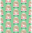 Seamless pattern made of cartoon buses vector image
