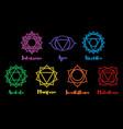 set of beautiful indian ornamental chakras vector image