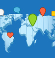 Social network concept The Earth map in vector image