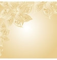 Golden background with floral ornament vector image