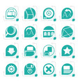 stylized internet and website icons vector image