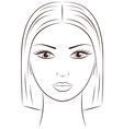 Female face vector image