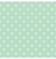 Seamless green polka dots pattern or background vector image vector image