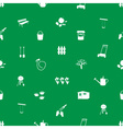 garden symbols seamless pattern eps10 vector image