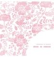 Pink textile birds and flowers frame corner vector image