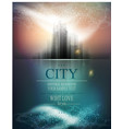 banner for business with the city and reflection vector image vector image